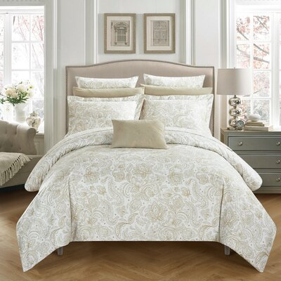 Regents Park Duvet Set Size: Twin, Color: Beige