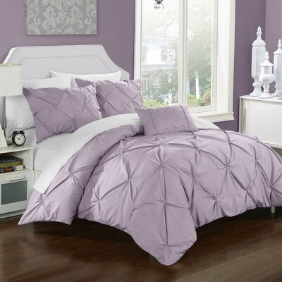 Alaina 8 Piece Duvet Set Size: Queen