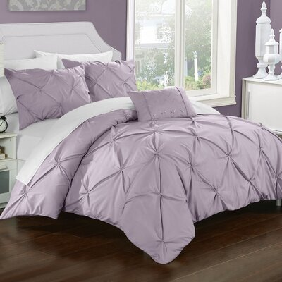 Alaina 4 Piece Duvet Set Size: Queen