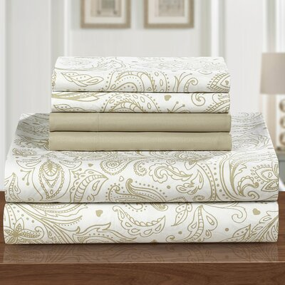 Welford 6 Piece Sheet Set Size: Queen, Color: Beige