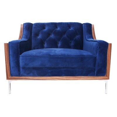 Clark Armchair Upholstery: Navy Blue