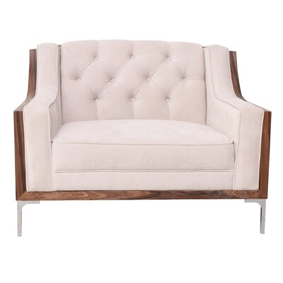 Clark Armchair Upholstery: Cream