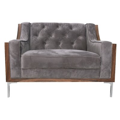 Clark Armchair Upholstery: Light Gray