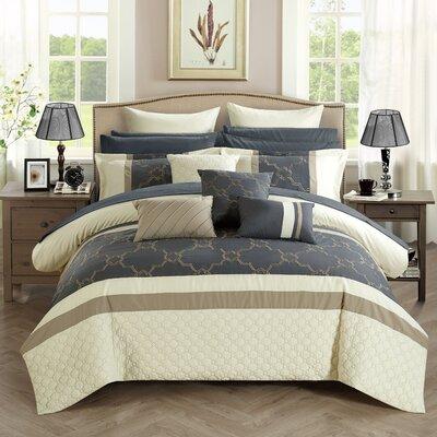 Camilia 16 Piece Bed in a Bag Set Size: Queen, Color: Beige