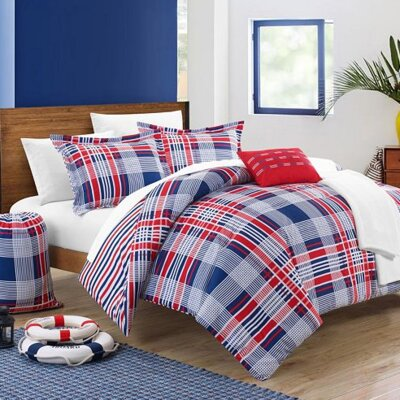 Reversible Bed-In-A-Bag Set Size: Twin XL, Color: Red