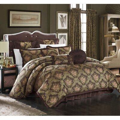 Le Mans 9 Piece Comforter Set Size: Queen, Color: Brown