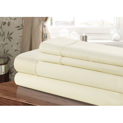 300 Thread Count 100% Egyptian-Quality Cotton Sheet Set Color: Beige