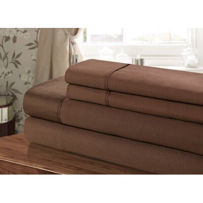 300 Thread Count 100% Egyptian-Quality Cotton Sheet Set Color: Brown
