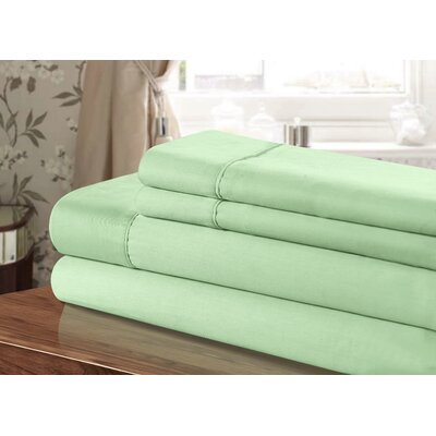 300 Thread Count 100% Egyptian-Quality Cotton Sheet Set Color: Sage