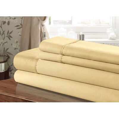 300 Thread Count 100% Egyptian-Quality Cotton Sheet Set Color: Gold