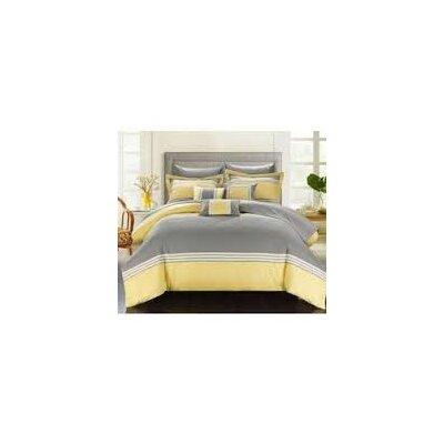 Falcon Hotel 10 Piece Comforter Set Color: Yellow, Size: Queen