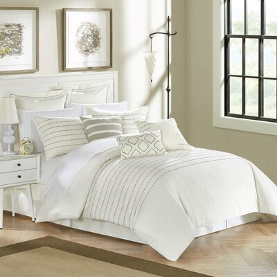 Tellier 9 Piece Comforter Set Size: Queen, Color: Beige/Gold