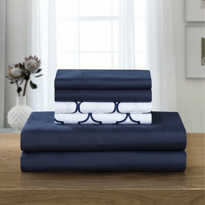 Hackett Sheet Set Size: Queen, Color: Navy