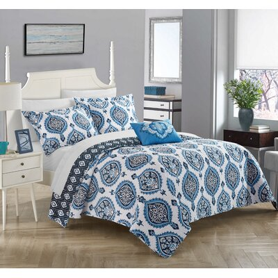 Barris 4 Piece Reversible Quilt Set Size: Queen