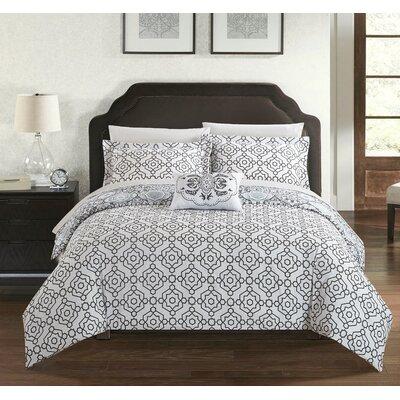 Aspen 4 Piece Reversible Quilt Set Size: Twin, Color: Black