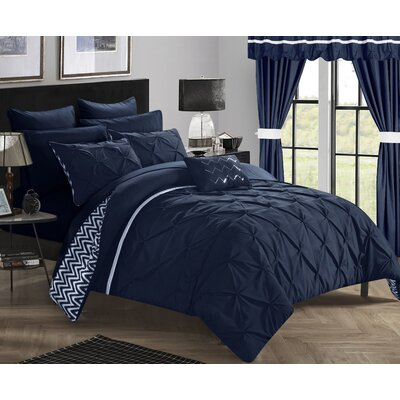 Jacksonville 20 Piece Reversible Bed in a Bag Set Size: King