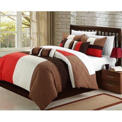 Zinfandel 8 Piece Queen Comforter Set