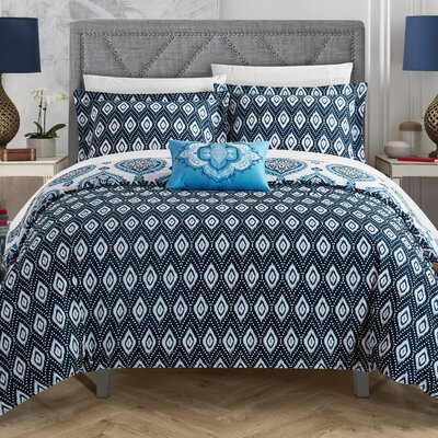 Lockport 4 Piece Reversible Duvet Set Size: King