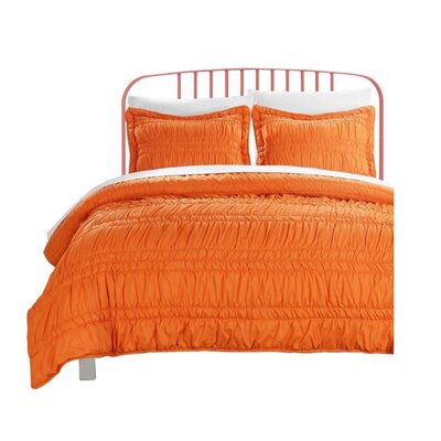 Quilt Set Color: Orange, Size: Full