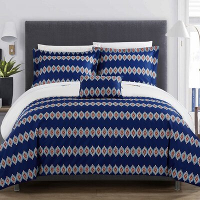 Jaye 4 Piece Reversible Duvet Set Size: Queen