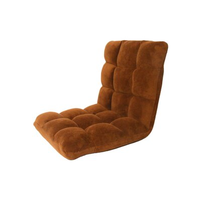 Microplush Armless Quilted Recliner Bean Bag Chair Upholstery: Brown