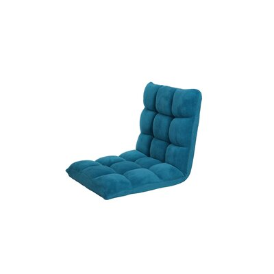 Microplush Armless Quilted Recliner Bean Bag Chair Upholstery: Dark Blue