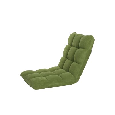 Microplush Armless Quilted Recliner Bean Bag Chair Upholstery: Green