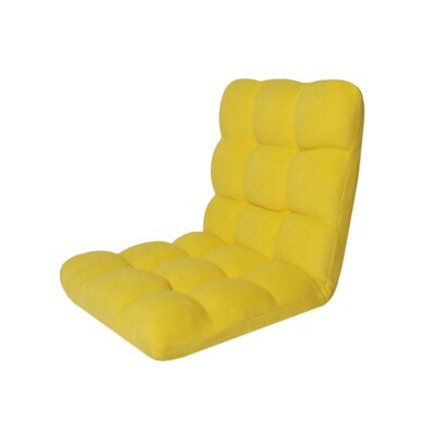 Microplush Armless Quilted Recliner Bean Bag Chair Upholstery: Yellow