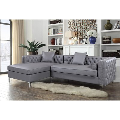 Margaux Button Tufted Reclining Sectional