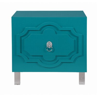 Trinh End Table Color: Turquoise