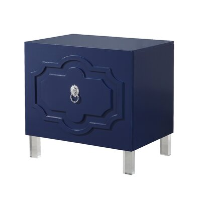 Trinh End Table Color: Navy Blue