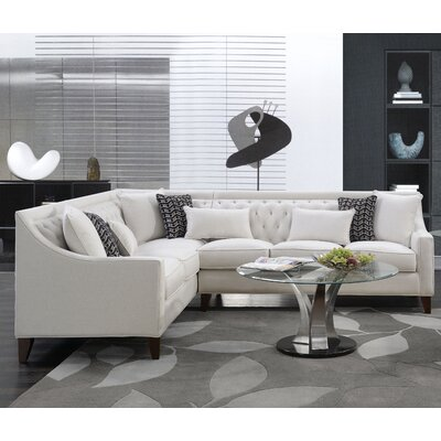 Babington Sectional Finish: Cream, Orientation: Right-Facing