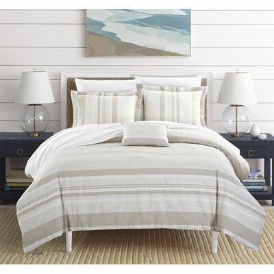 Colchester 100% Cotton 4 Piece Duvet Set Size: King, Color: Beige