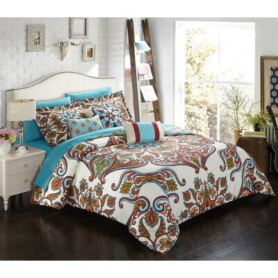 Charleville 10 Piece Comforter Set Size: King