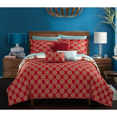 Barrville Polyester 10 Piece Comforter Set Size: Queen