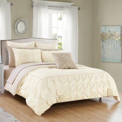 Barre 10 Piece Reversible Comforter Set Color: Beige, Size: King