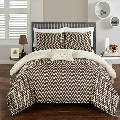 Jacky Comforter Set Size: Twin, Color: Beige