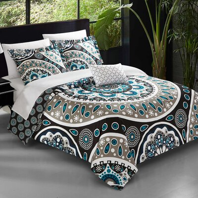Binning 4 Piece Reversible Quilt set Size: King