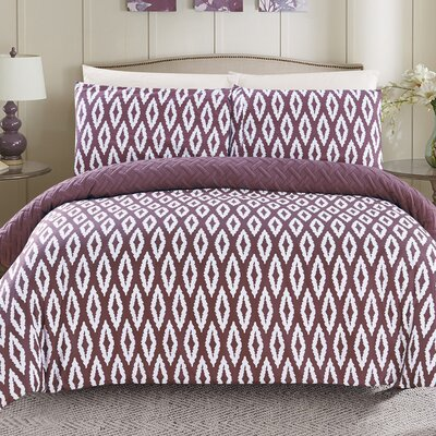 Cherree 2 Piece Reversible Comforter Set Color: Purple