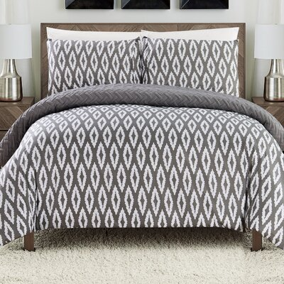 Cherree 2 Piece Reversible Comforter Set Color: Gray