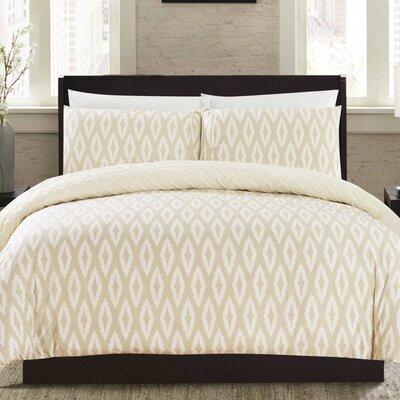 Cherree 2 Piece Reversible Comforter Set Color: Beige
