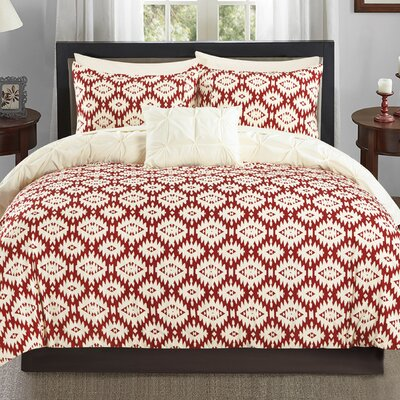 Cherryl 3 Piece Reversible Duvet Set Color: Beige
