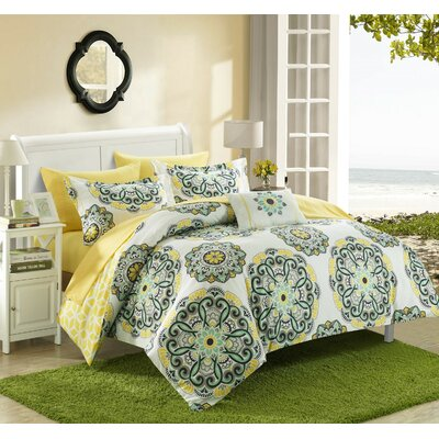Reversible Bed-In-A-Bag Set Size: Full/Queen, Color: Yellow
