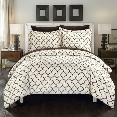 Heather Reversible Comforter Set Size: Twin, Color: Brown