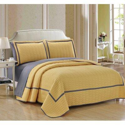 Birmingham 7 Piece Quilt Set Size: Queen, Color: Yellow