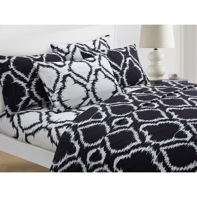 Wallin 4 Piece Twin Sheet Set Color: Black