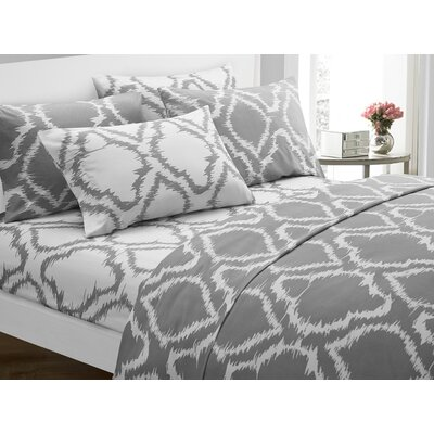 Wallin 4 Piece Twin Sheet Set Color: Gray