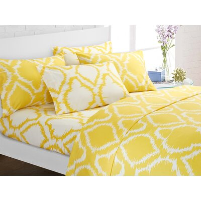 Wallin 4 Piece Twin Sheet Set Color: Yellow