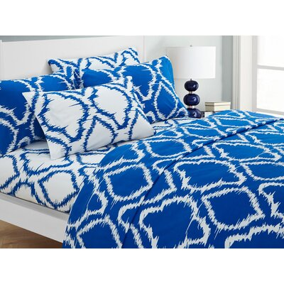 Wallin 4 Piece Twin Sheet Set Color: Blue