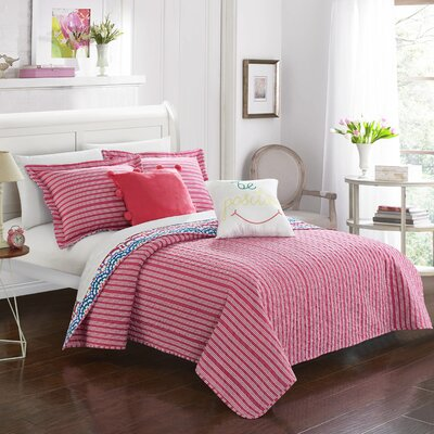 Hilary Reversible Comforter Set Size: Twin
